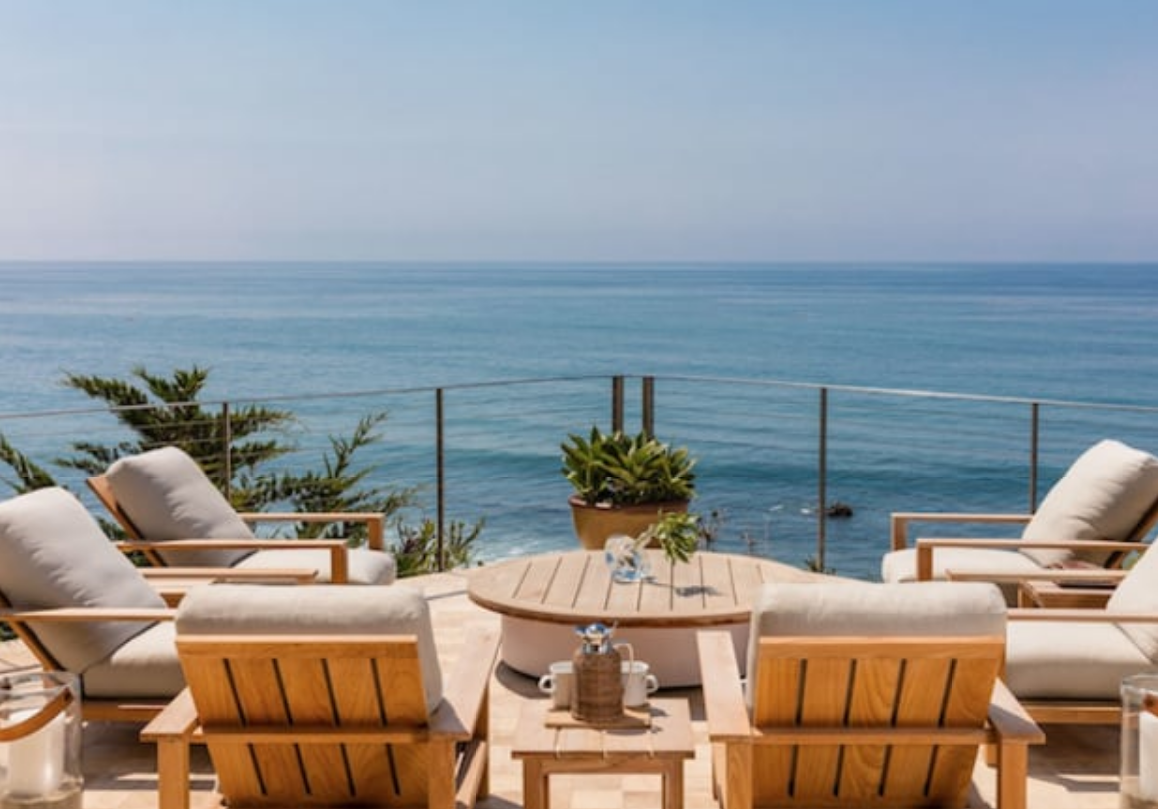 La terrazza con vista sul Pacifico / TMZ