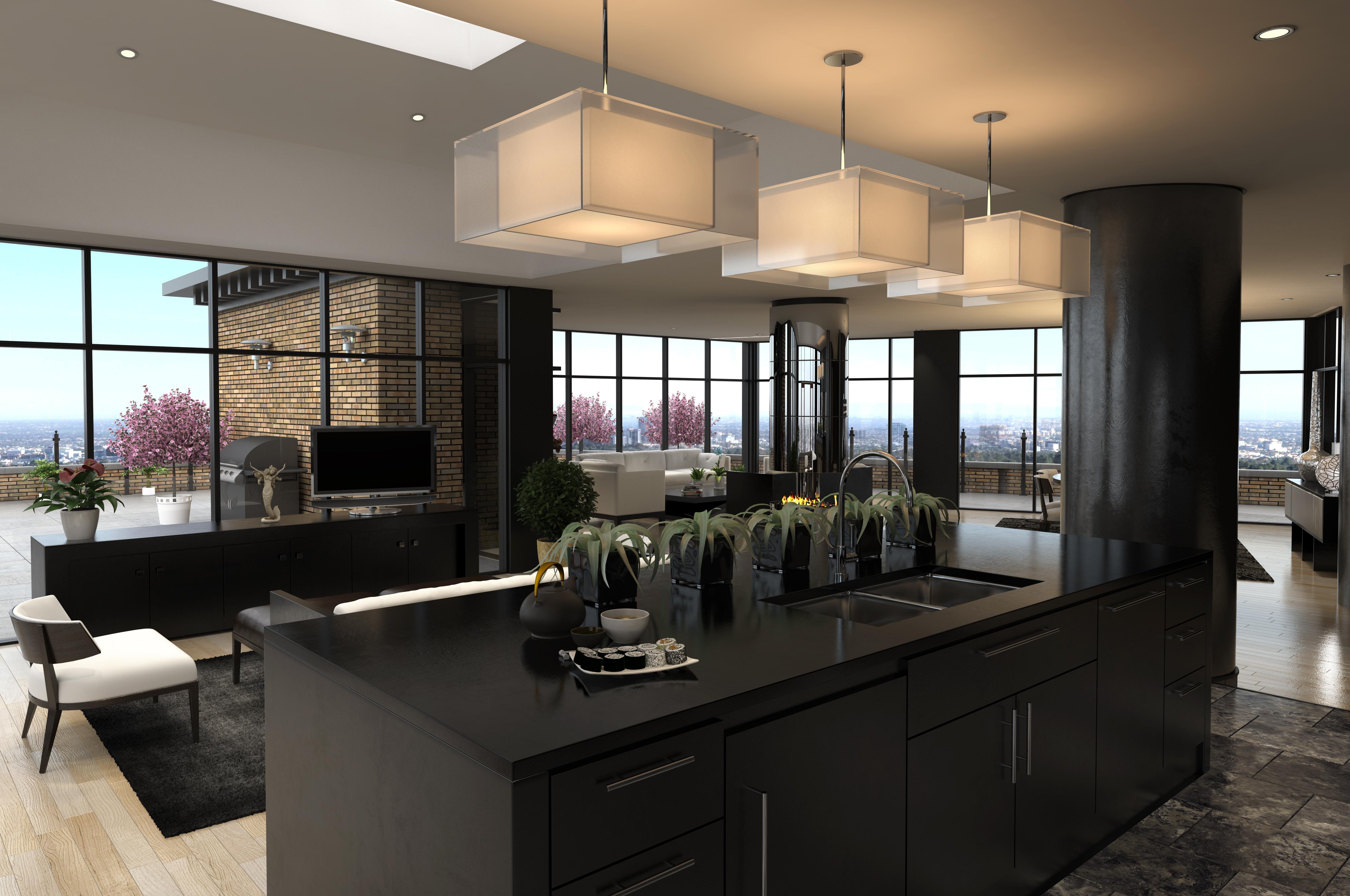 Sei idee per progettare una cucina moderna con isola centrale ...
