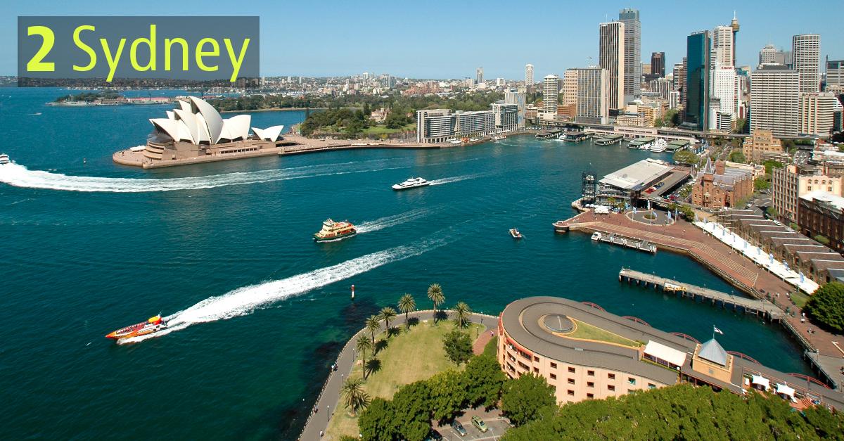 Unica città dell'Oceania in top ten