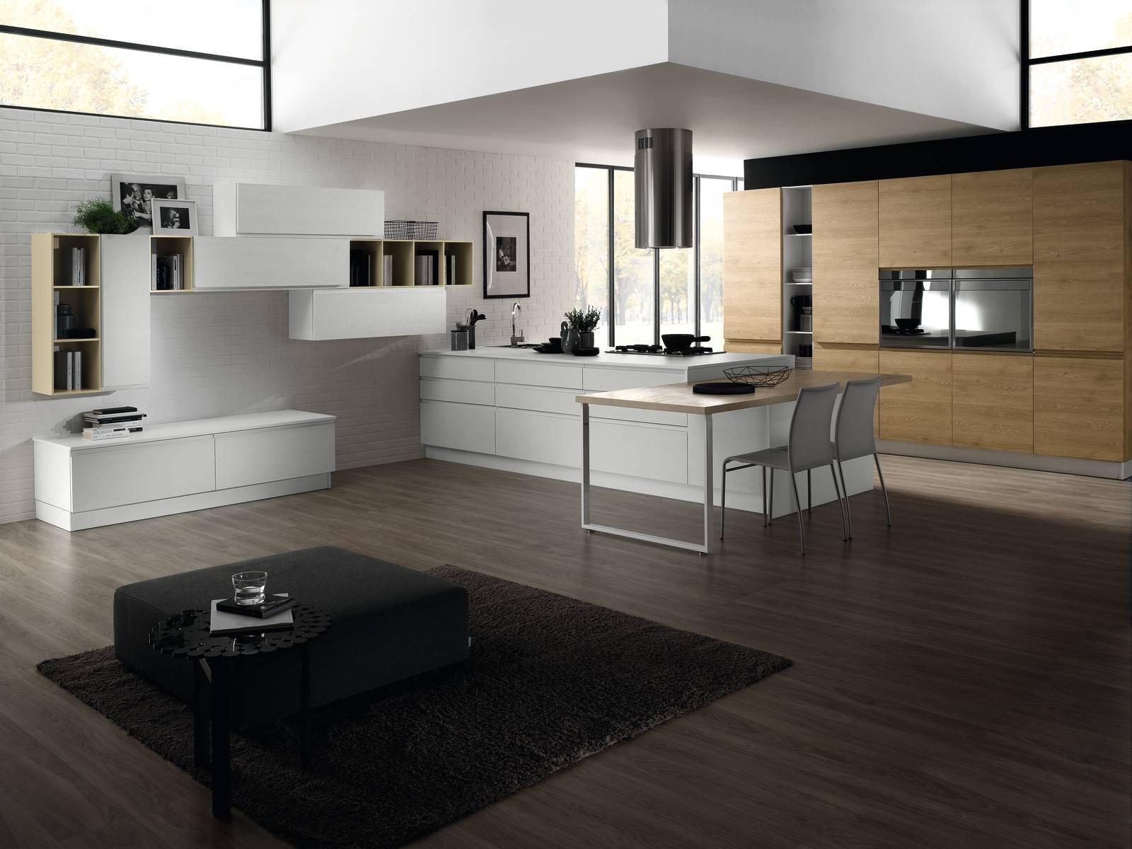 Cucina open space con isola open space con cucina ad isola foto stock rendering arredamento - Cucina open space con isola ...