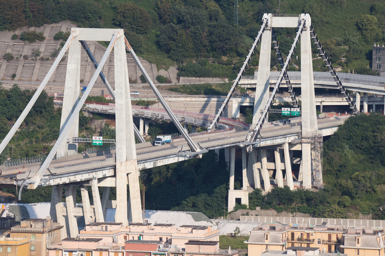 Il ponte Morandi di Genova dopo il tragico crollo / Gtres