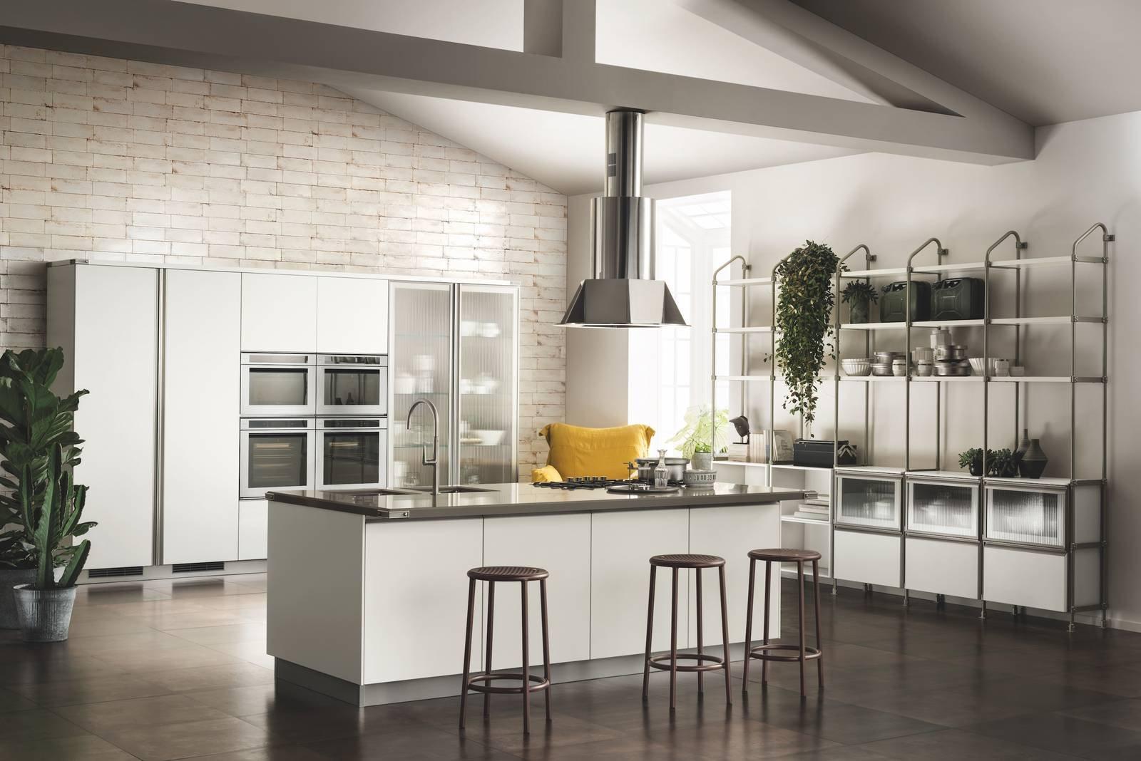 La cucina con isola effetto vedo non vedo casafacile