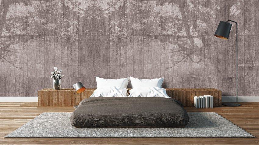 Carta da parati per camere da letto ecco quale scegliere for Carta da parati effetto muro