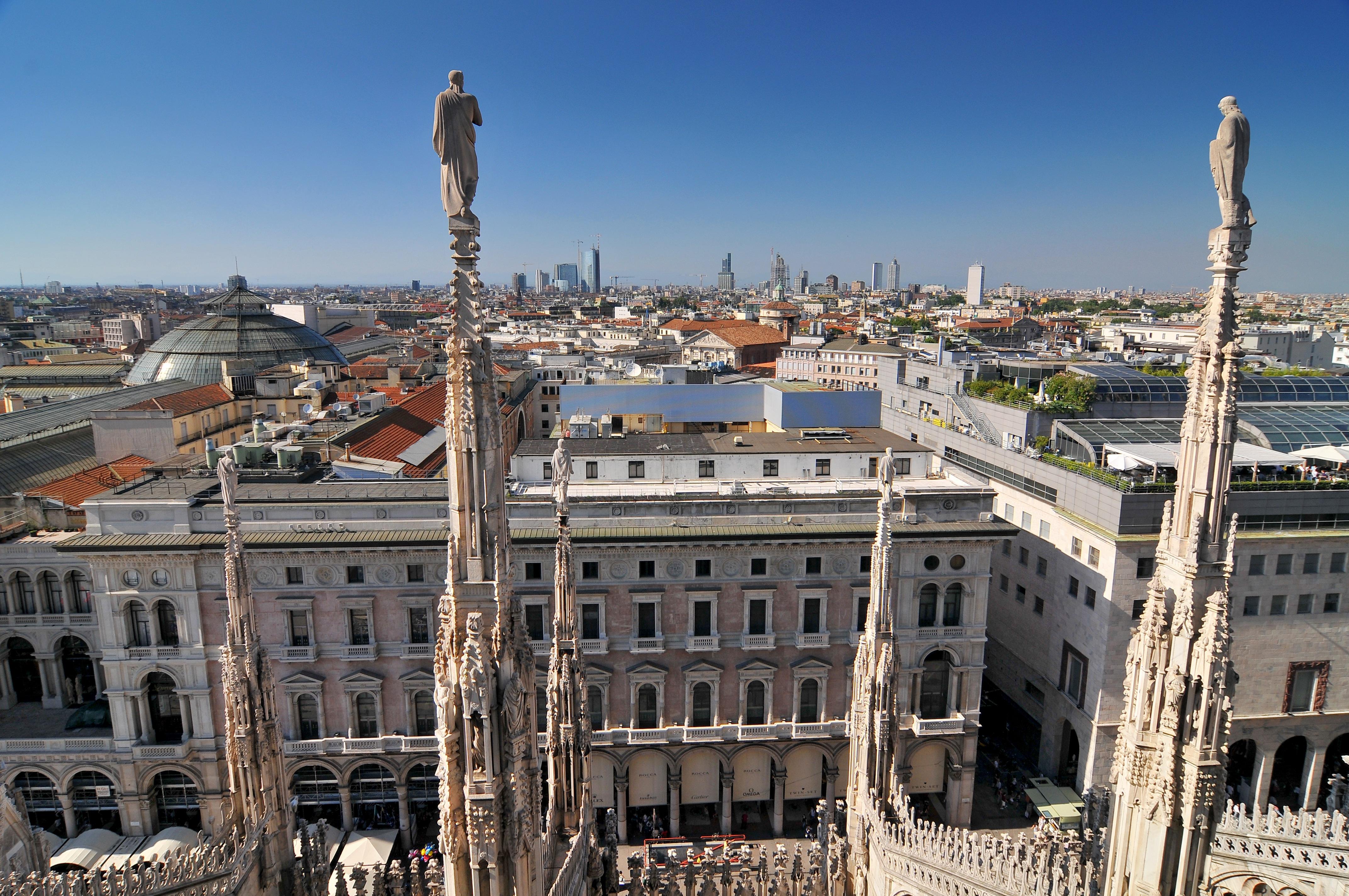 Una veduta di Milano dal Duomo / Gtres