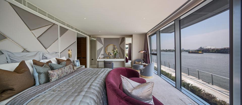 L'appartamento ha tre piani su 560 mq
