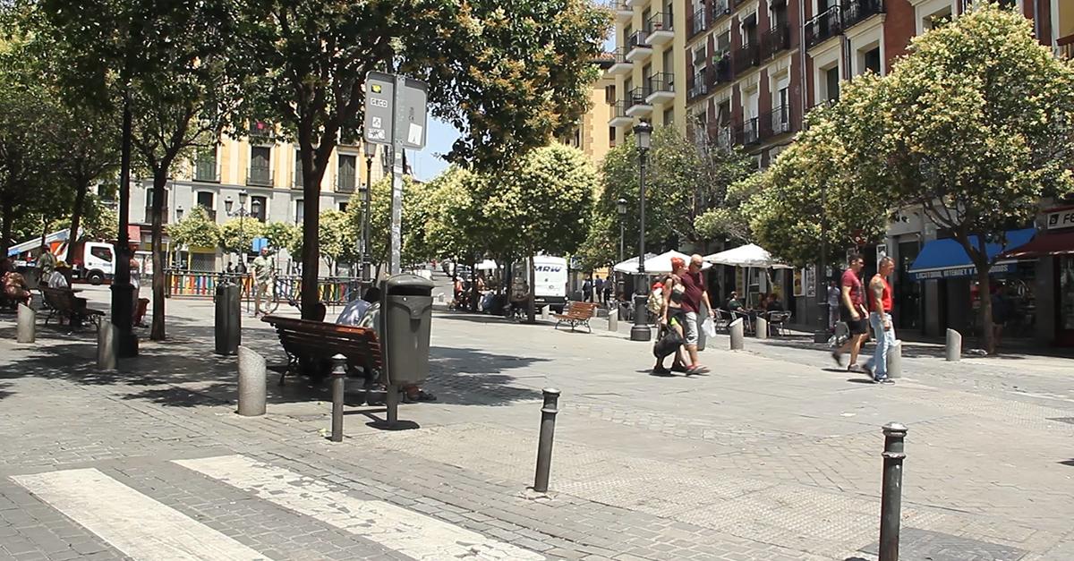 Il centro del quartiere madrileno