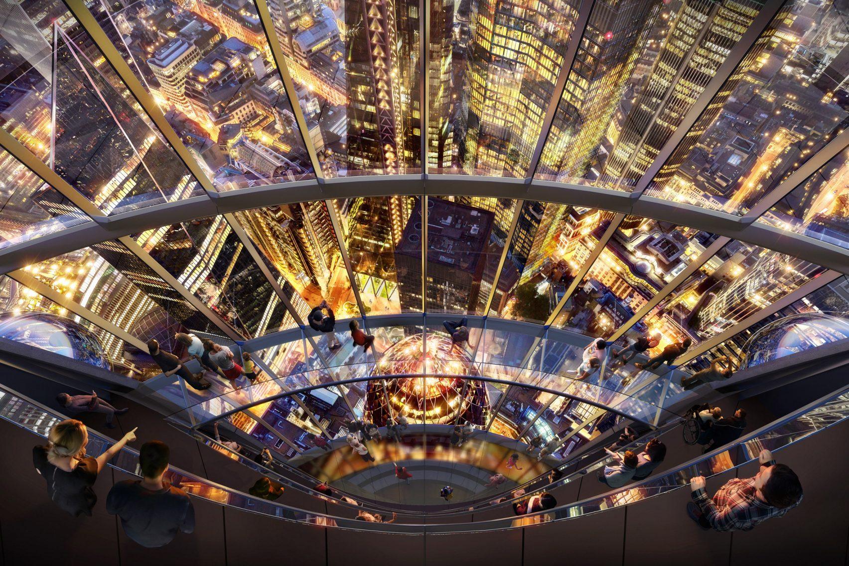 La vista dall'alto del nuovo edificio / DBOX for Foster + Partners