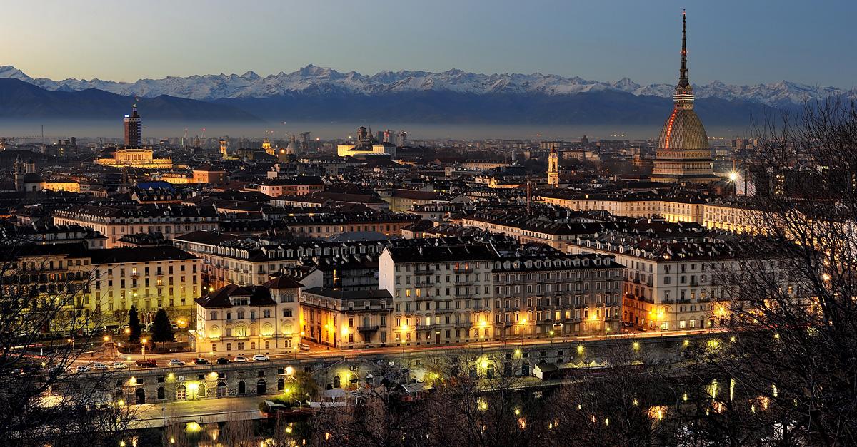 Vista della città di Torino