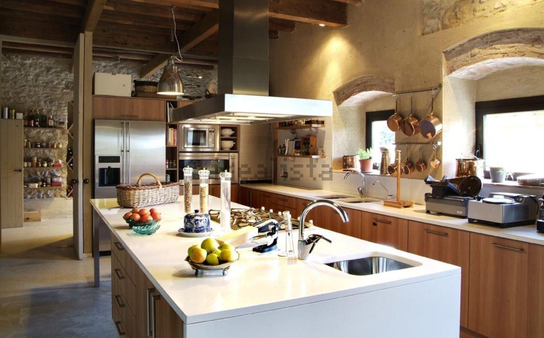 La cucina totalmente realizzata in Silistone