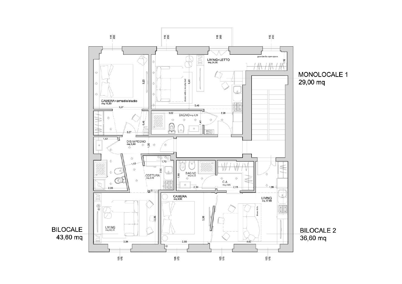 Casa 60 Mq Pianta dividere una casa — idealista/news
