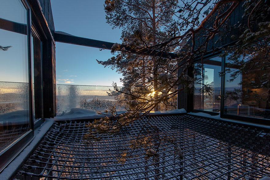 Veduta sull'aurora / Treehotel