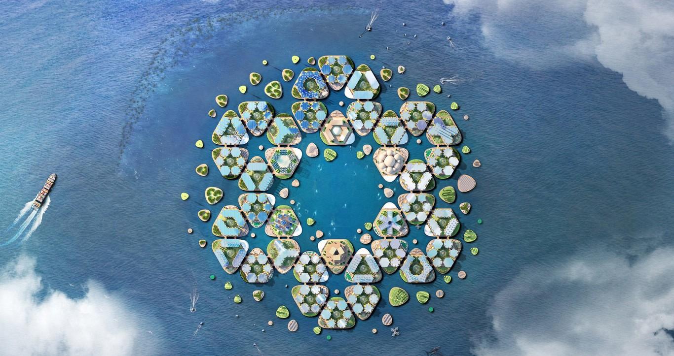 Il progetto è costituito da un insieme di piattaforme esagonali