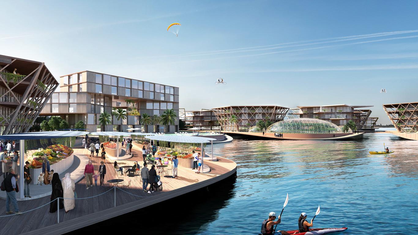 Saranno circa 10mila gli abitanti che potranno essere ospitati sulla città galleggiante