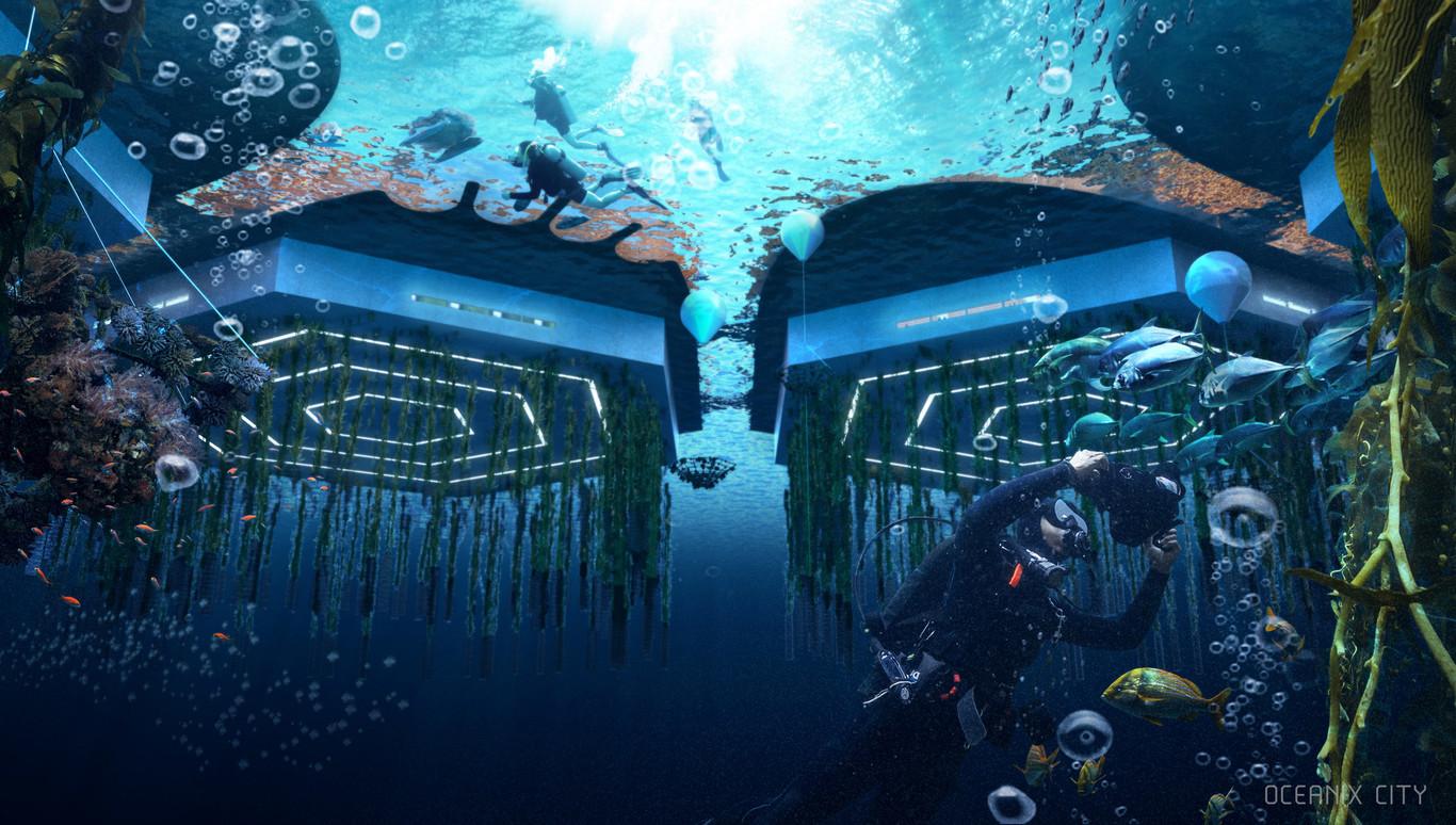 Come si vedrà la città galleggiante dall'Oceano