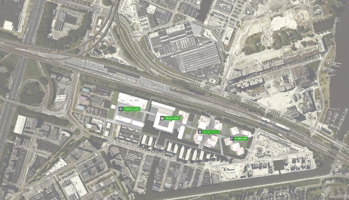 Bajes Kwartier, i quattro cluster