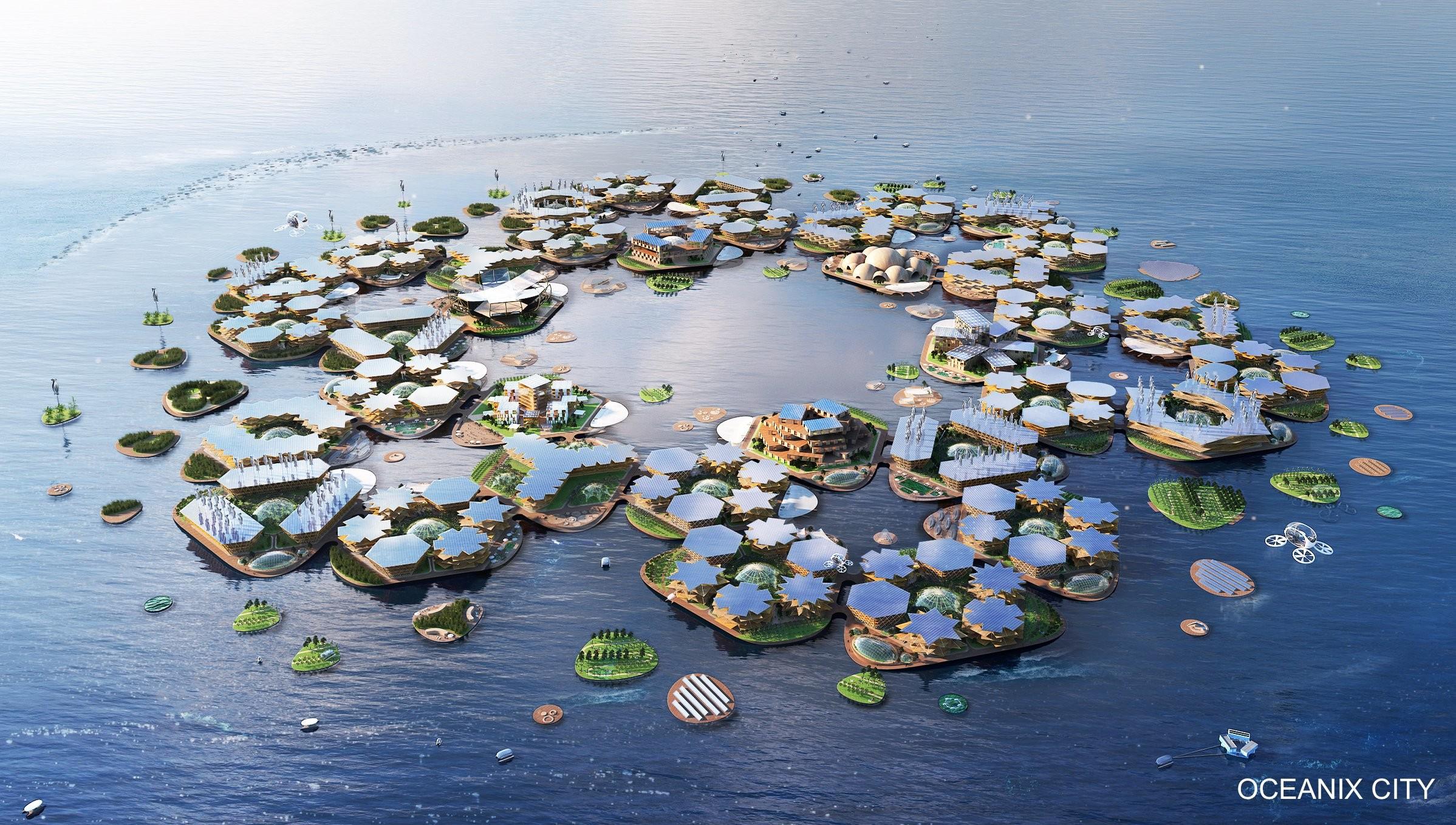 L'aspetto che avrà la città galleggiante