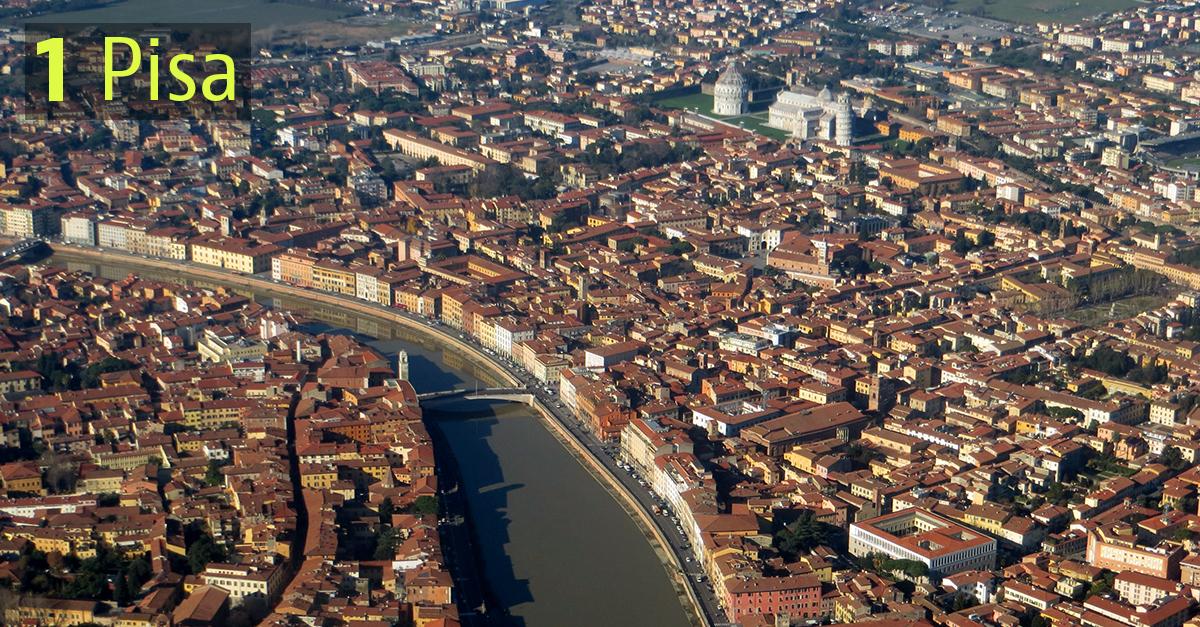 Pisa è il comune più efficiente d'Italia