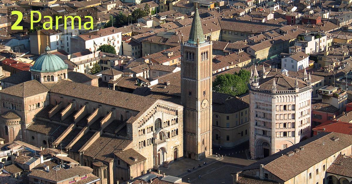 Parma occupa la seconda piazza