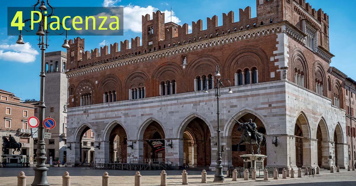Piacenza è appena fuori dal podio