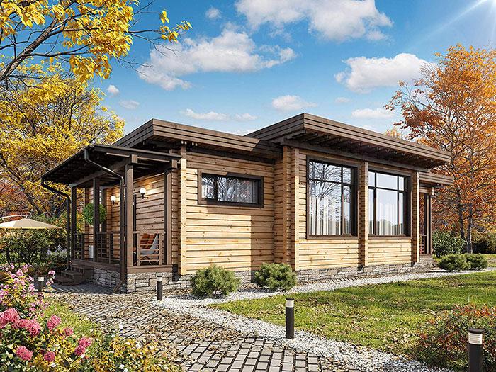 Laminated Log House Kit 56.200 euro