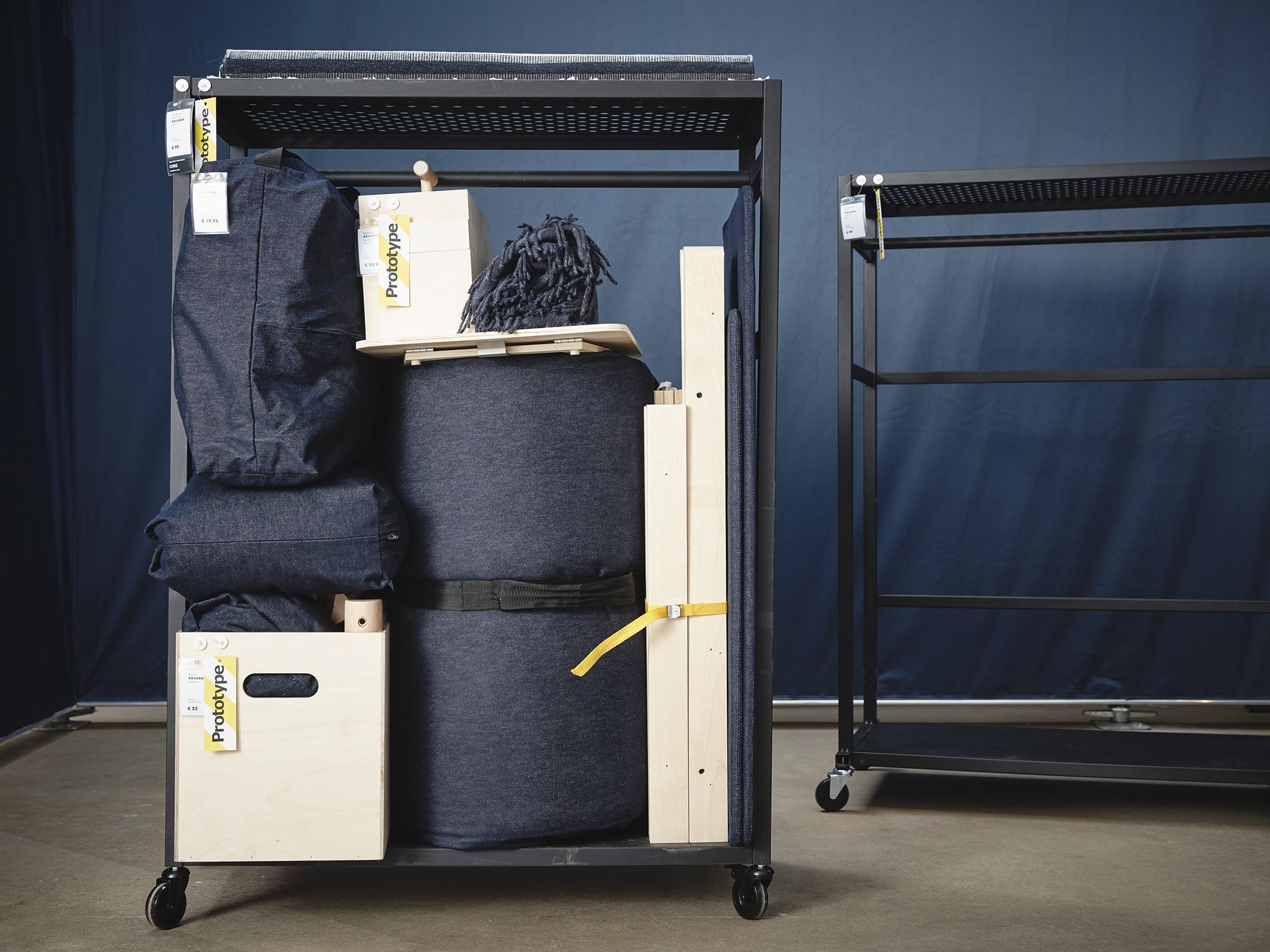 Il carrello che diventa divano letto