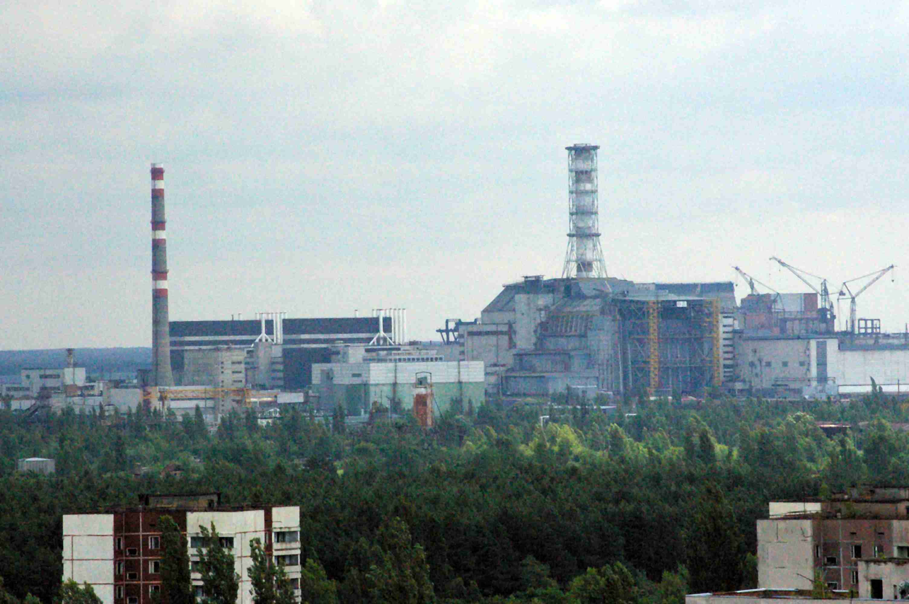 Una vista sulla Centrale Nucleare Lenin