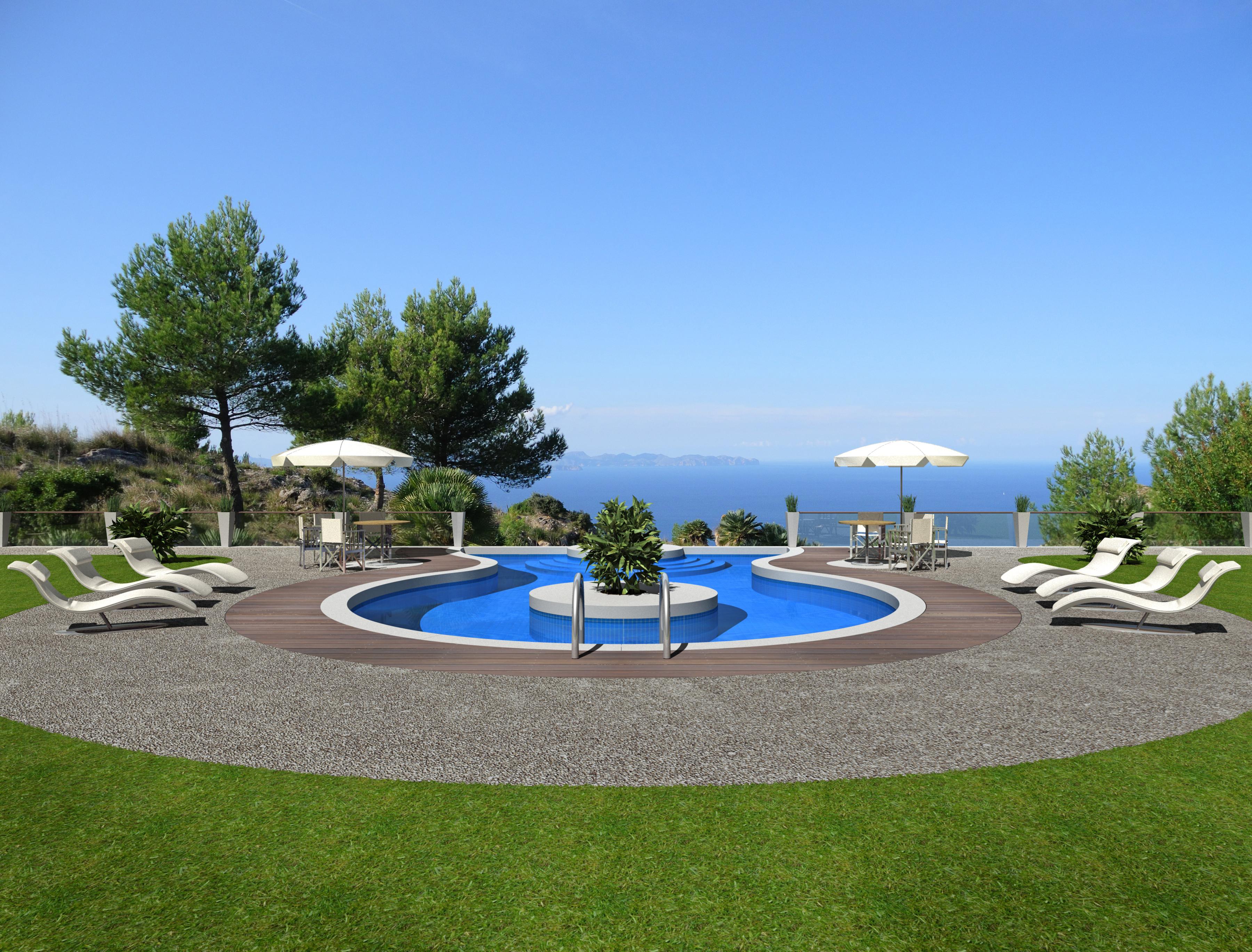 Realizzare una piscina sul terrazzo