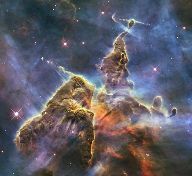 """La nebulosa nota come """"I pilastri della Creazione"""""""