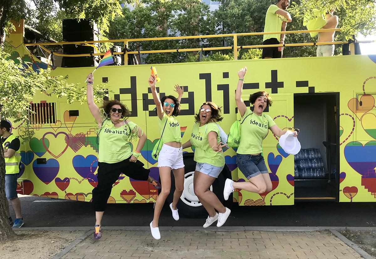 Il carro di idealista al Gay Pride di Madrid nel 2018