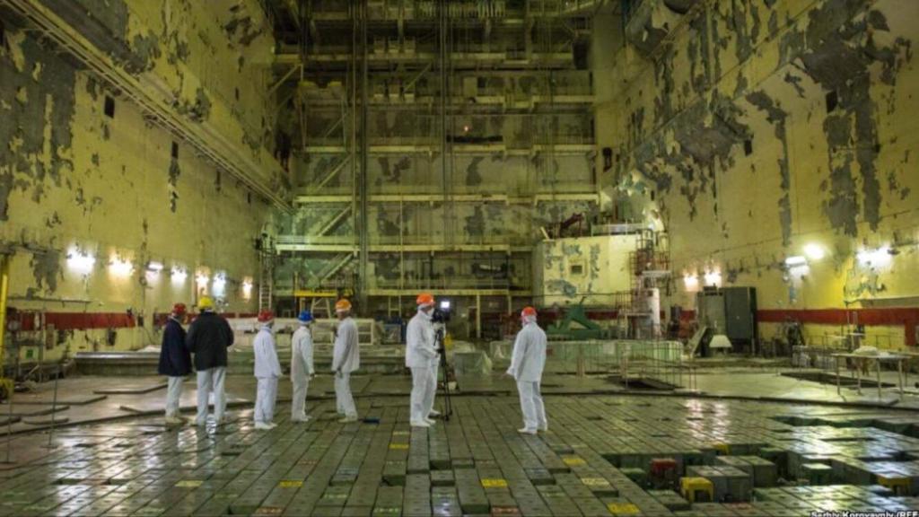 Interno della centrale di Chernobyl