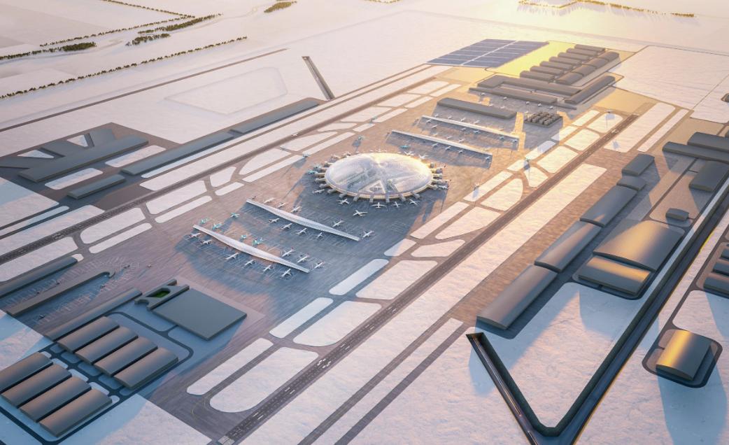 Un'enorme cupola al centro del progetto