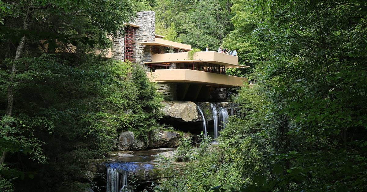 Fallingwater, Mill Run, Pennsylvania (1936-1939) / Wikipedia