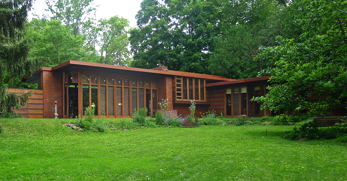 Herbert e Katherine Jacobs House, Madison, Wisconsin (1936-1937) / Wikipedia