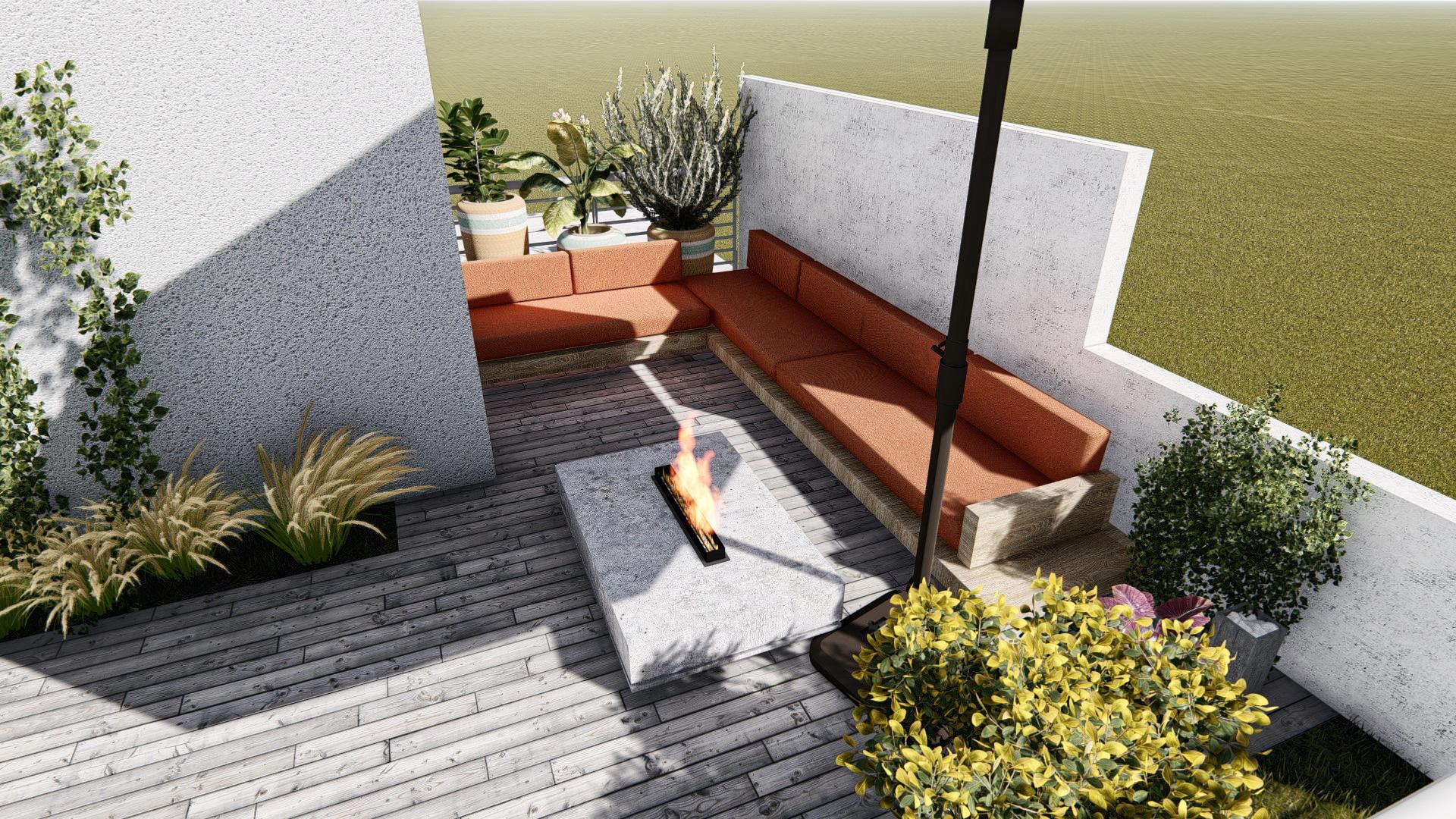 Arredare un terrazzo grande