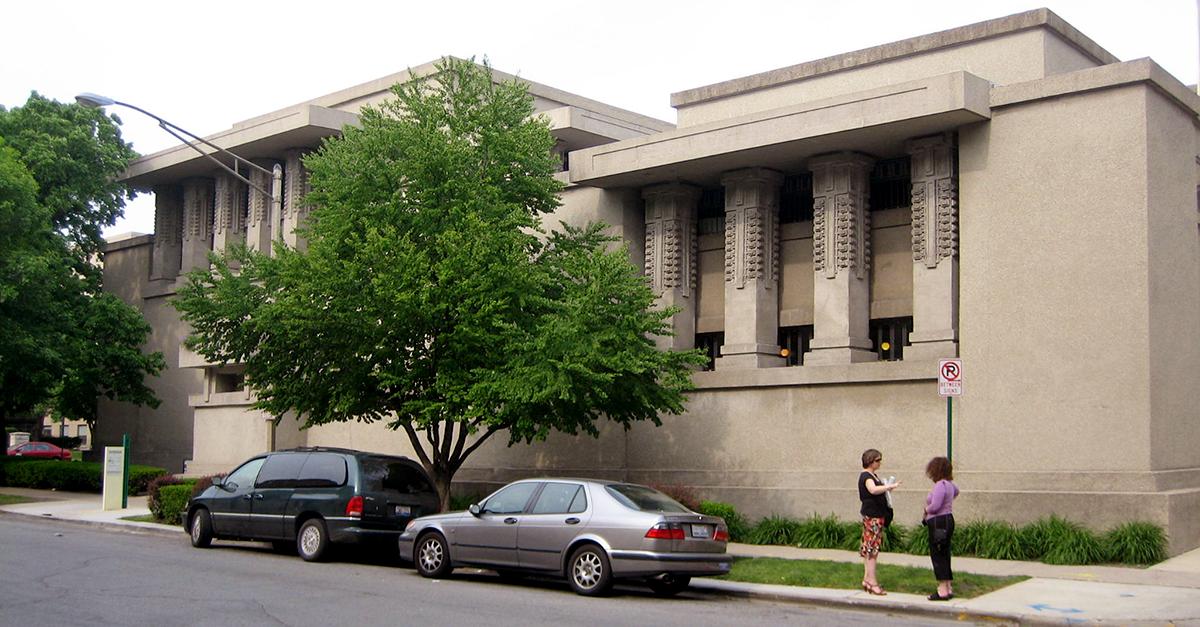 Unity Temple, Oak Park, Chicago (1906-1909) / Wikipedia