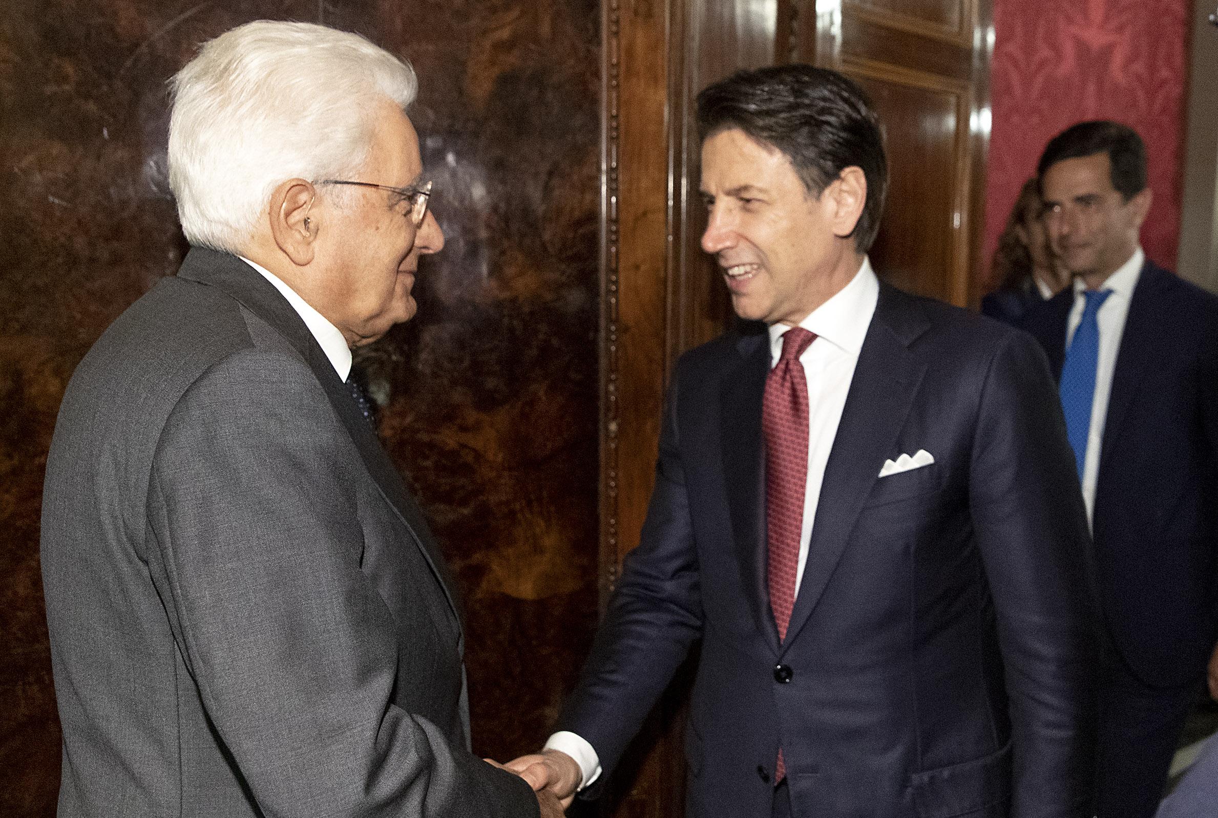 Il presidente della Repubblica e il premier incaricato