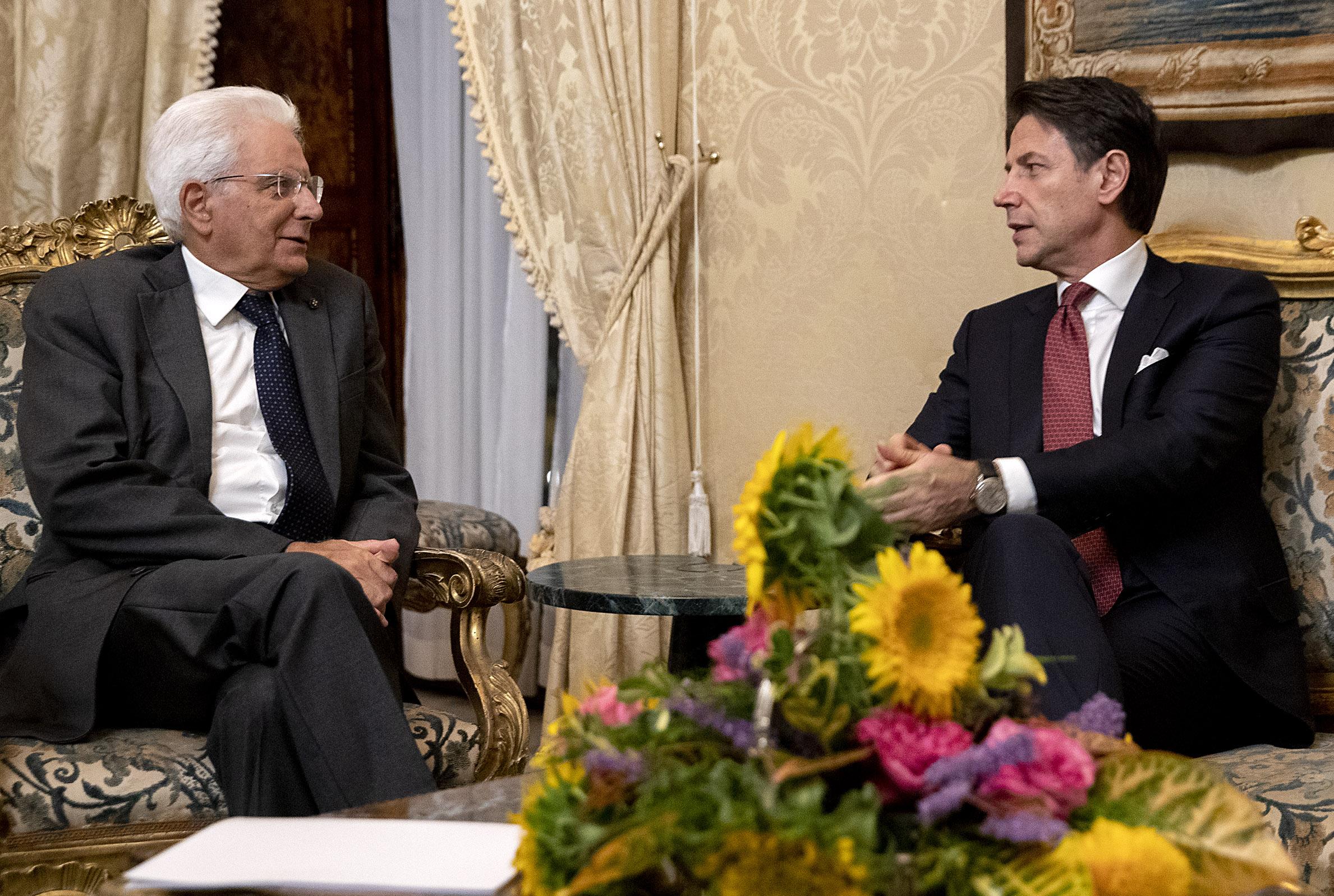 Il presidente della Repubblica, Sergio Mattarella, e il presidente del Consiglio, Giuseppe Conte / www.quirinale.it