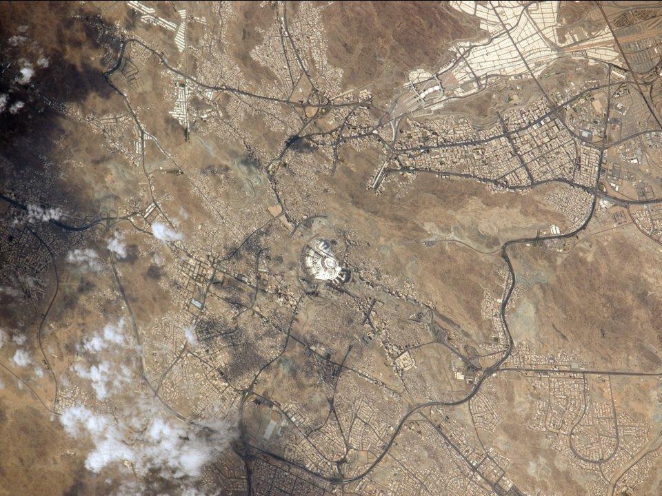 La Mecca vista dalla Stazione Spaziale Internazionale