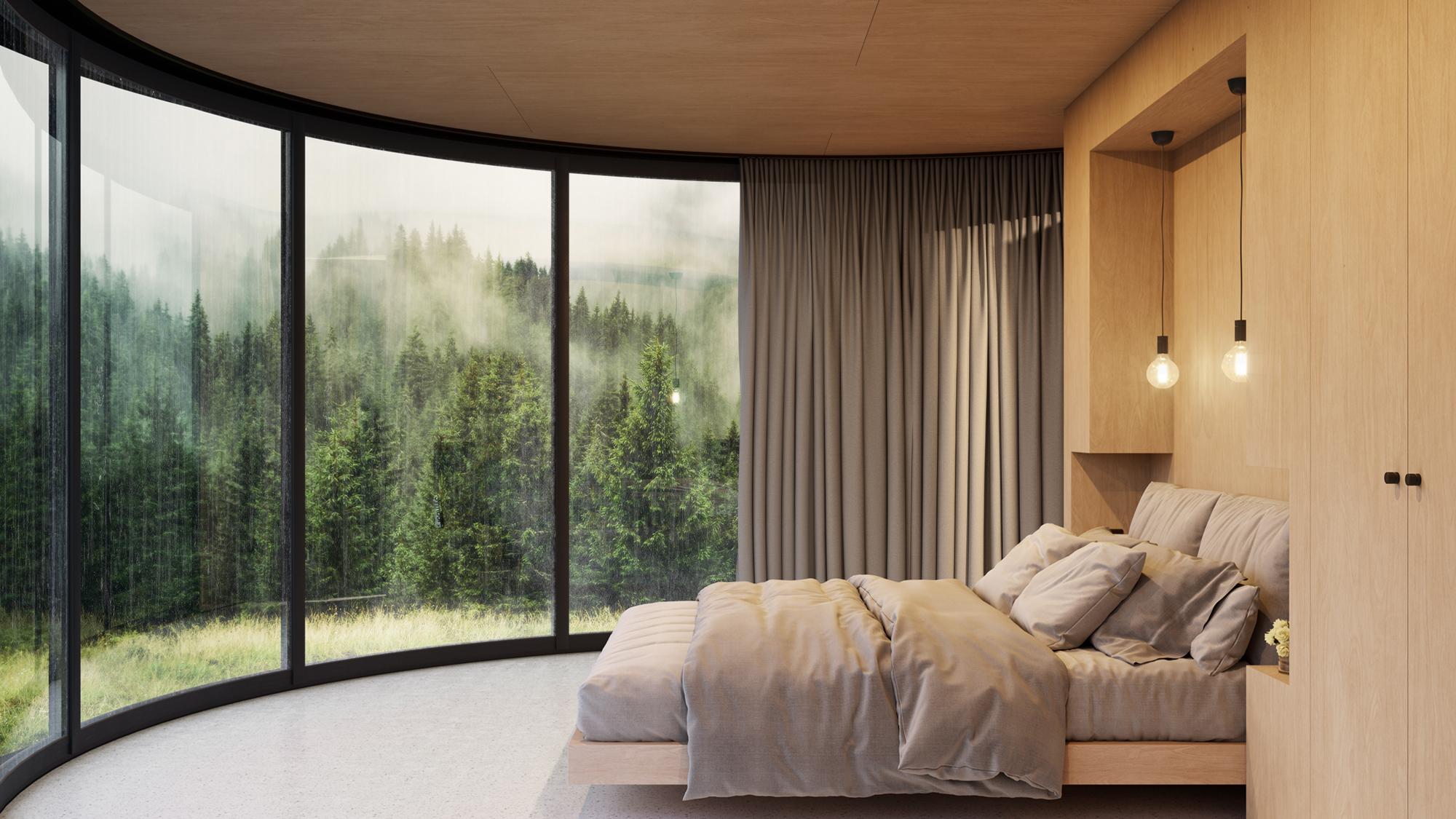 Il legno e i colori chiari danno calore