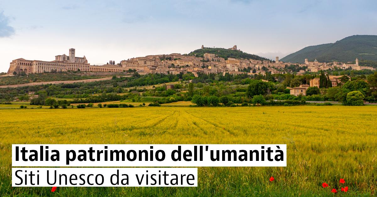 Città italiane dichiarate patrimonio dell'umanità