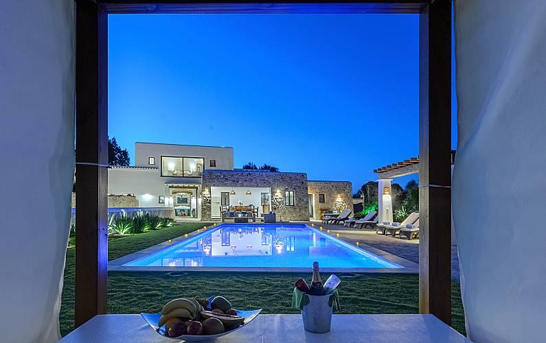 Una vista della casa