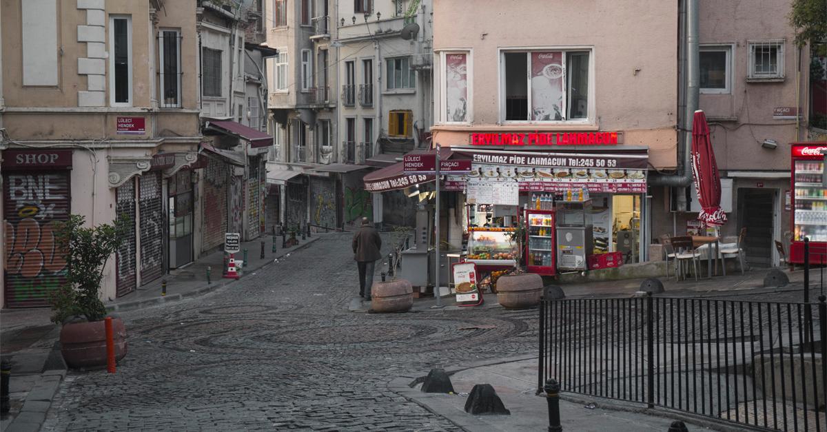 Strade nel quartiere Beyoglü
