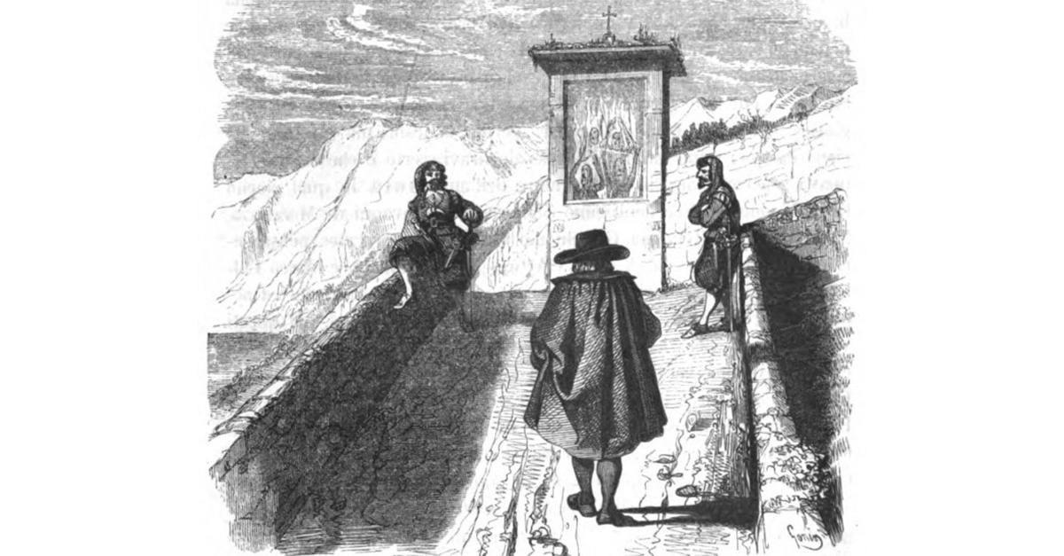 Il famoso incontro tra don Abbondio e i Bravi nei Promessi Sposi
