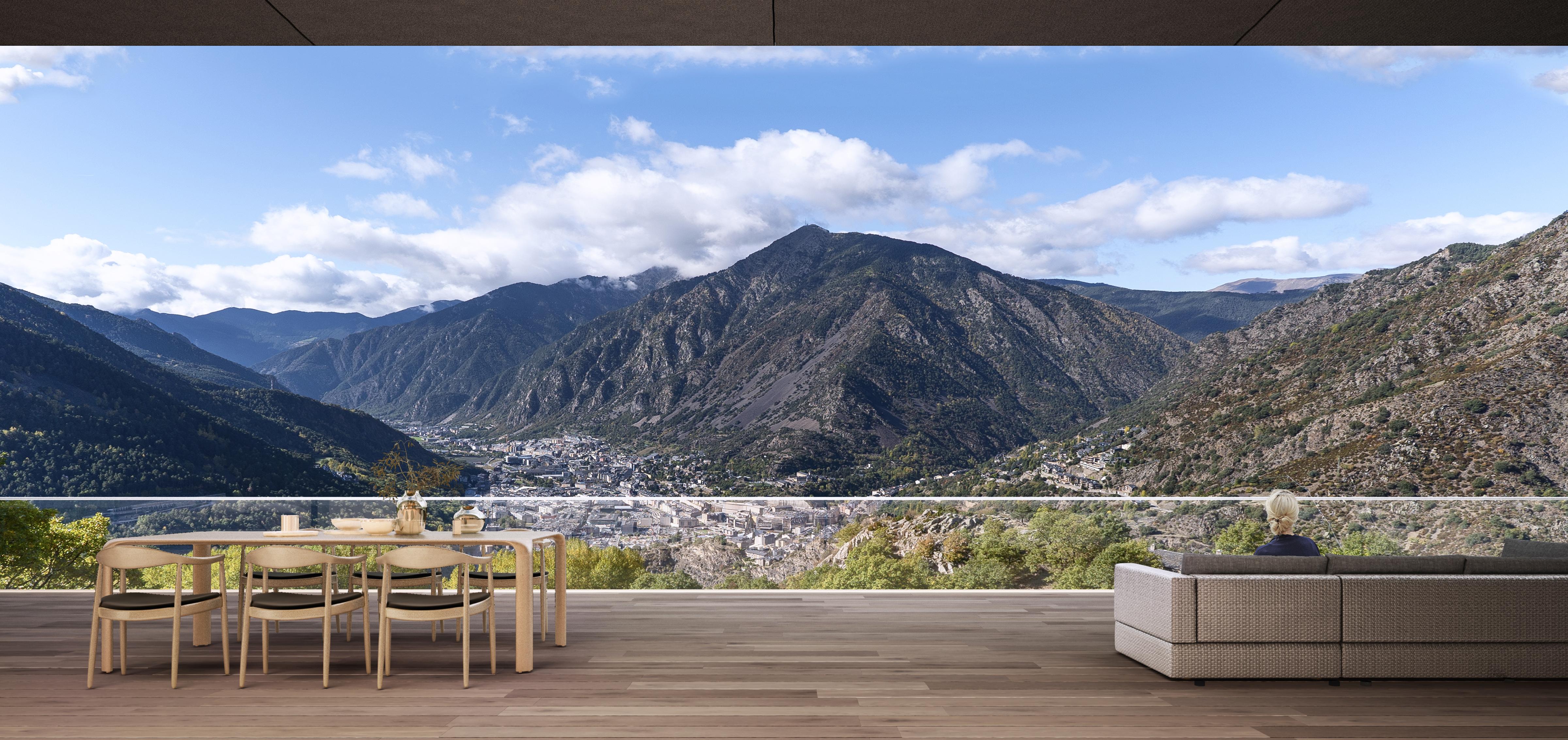 Una terrazza su una delle valli più belle dei Pirenei