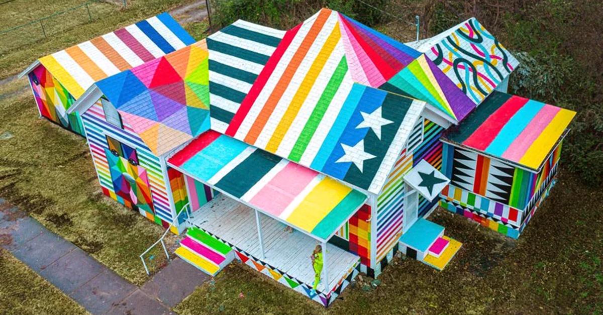 Una vista della casa dell'Arkansas / Okuda San Miguel