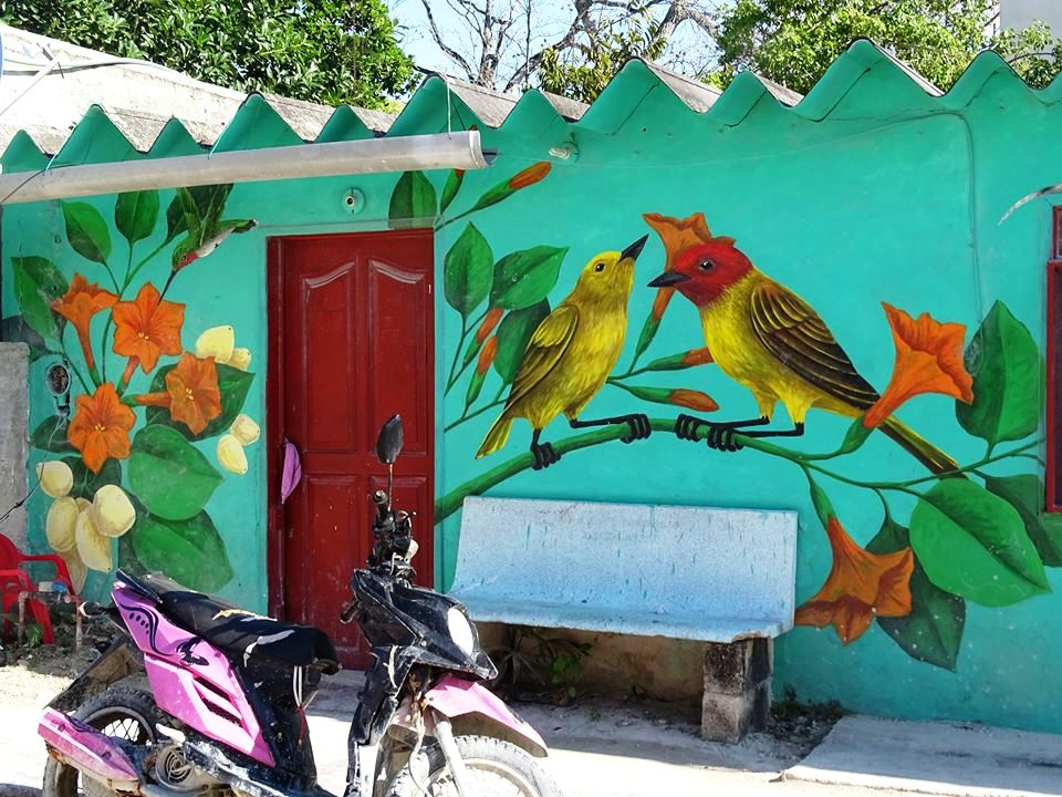 Un murales a Holbox / Roberta Rossi Gaziano