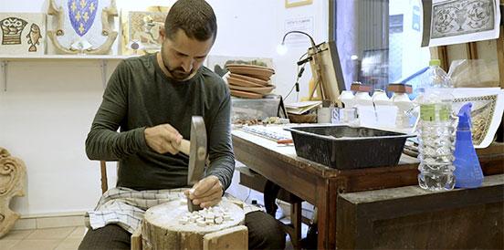 Fabio, il mosaicista,Roma