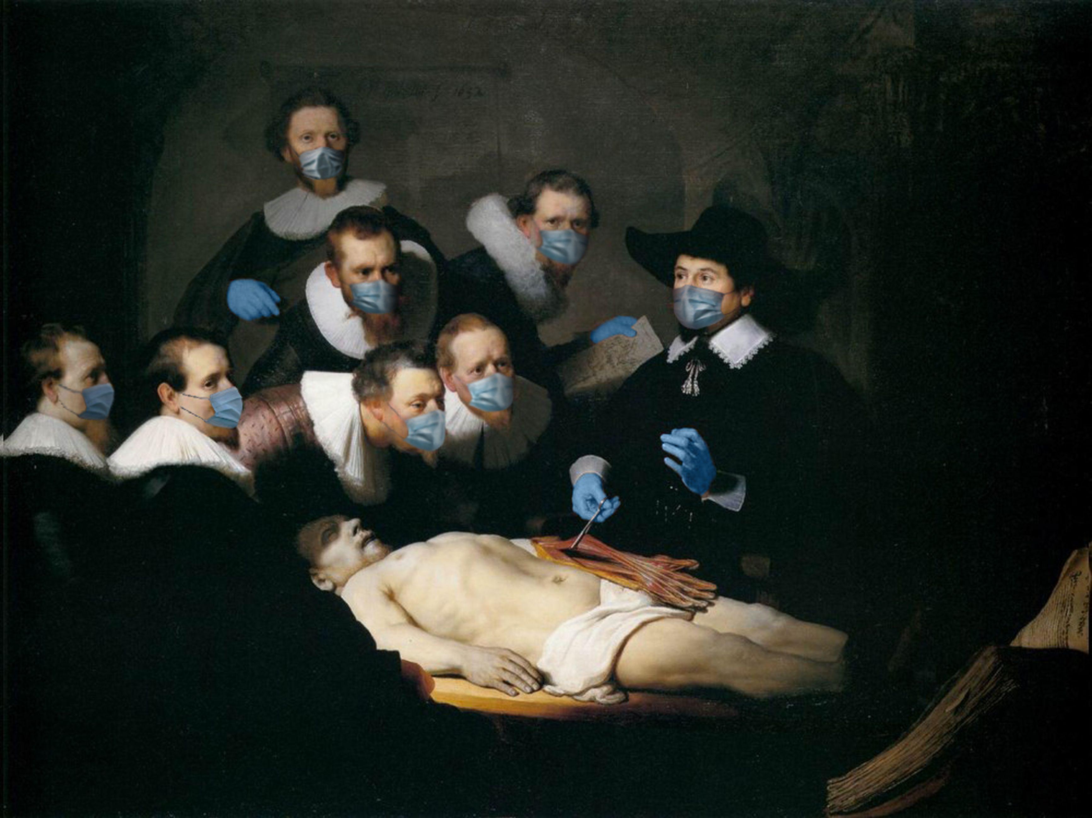 Lezione di anatomia del dottor Tulp / Rembrandt/POA Estudio