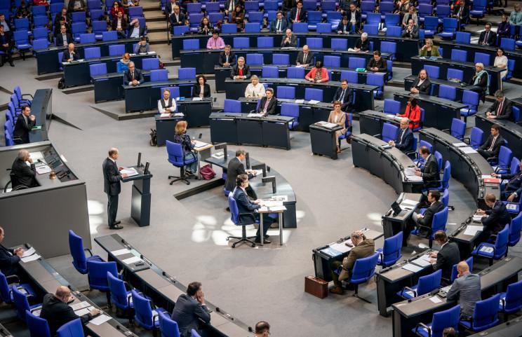 Il ministro tedesco delle Finanze, Olaf Scholz, nel Bundestag / Gtres