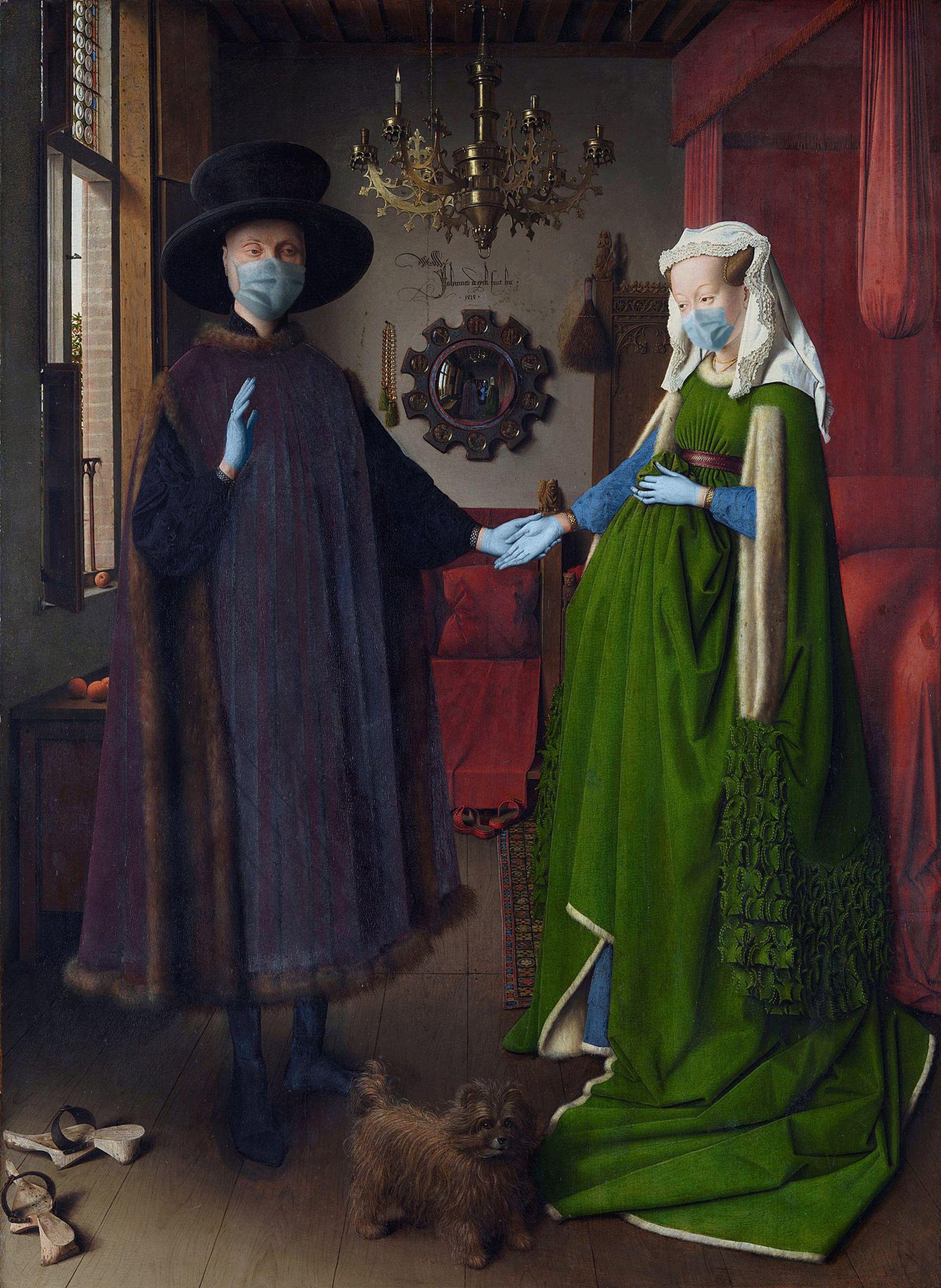 Ritratto di Giovanni Arnolfini e sua moglie / Jan van Eyck/POA Estudio